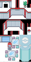 Pokemon Center Complete Tileset by ditto209