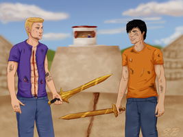 Percy and Jason - On Three? by sbrigs