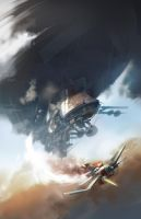 Airship Attack by arthurloftis