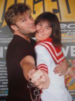Me and Vic Mignogna by riiko001