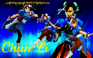 Chun Li Wallpaper by LegendaryDragon90
