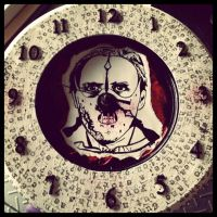 Hannibal Lecter Clock by MoobyWoo