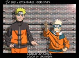 Naruto large and small by NaziUK
