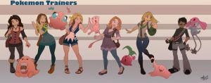 Pokemon Trainers by Chansey123