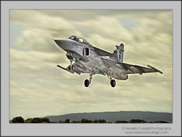 Saab Gripen at Take-off by substar