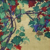 Parrots and Grapes by HouseofChabrier
