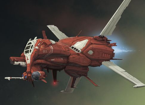 HF 16 Scarab Heavy Fighter by BenWootten
