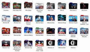 [J-LYRICS] Ultraman/Ultra Series icon pack by timepink