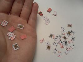 Mini Deck of Playing Cards by CandyForYourSkull