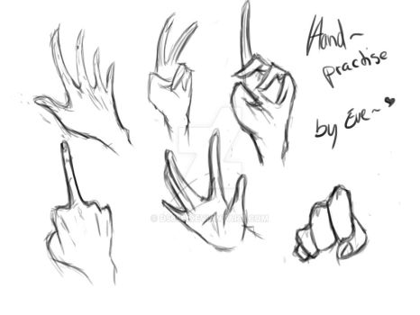 Hand Practise~ by D5656