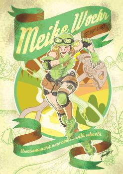 Vintage Roller Derby poster illustration by UMINluvILLUSTRATION