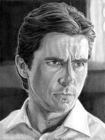 Christian Bale as Bruce Wayne by khinson