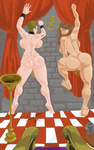 Cavewoman and Carrie Oasis dance contest  1 by DemuzArt