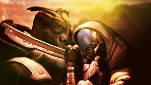 Rannoch, Garrus and Tali by Mallyxable