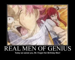 Real Men Of Genius - Natsu by grimmjack
