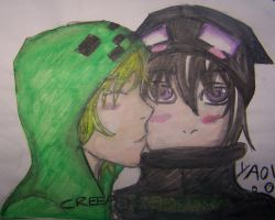 Creeper x Enderman by Schruppi