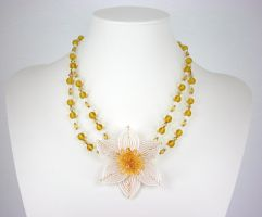 Daffodil Necklace by Lady-Blue