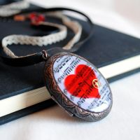 Love Steampunk Locket by RagDolliesMadhouse