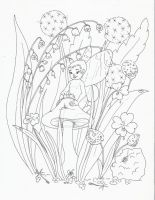 fairy baby with lily of the v. by thestoryteller1
