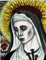 Our Lady of Sorrows -Colored- by Theophilia