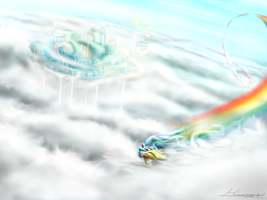 Cloudsdale feat Dash by Huussii