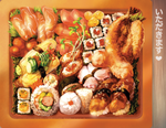 Sushi Bento Mousepad V.2 by muddymelly