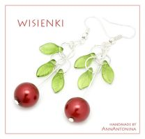 Cherries - earrings by AnnAntonina