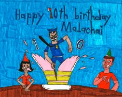 Malachai's 10th Birthday by Axe Cop by BARproductions