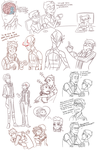 Oh Hell All These Doodles by AnArtistCalledRed