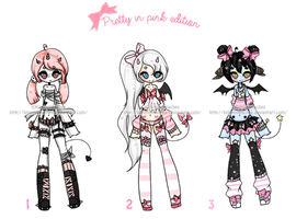 Demonic Sweetie Adoptables3  ::CLOSED:: by KimmyPeaches