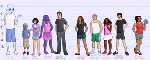 D. 258 Height Chart by MissLunaRose