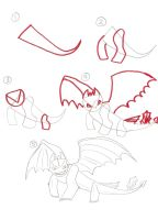 How to draw Toothless 3 by zealousshadow