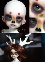 BJD Face Up - Dollzone LE Deer Boy by Izabeth
