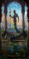 THE SACRED POOL -NAGA PAINTING by Imperess