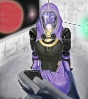 Mass Effect team members: Tali by Striped-Stocking