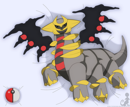 Napping Giratina by Elsdrake