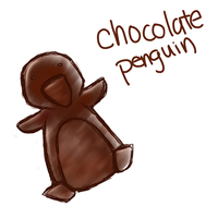Chocolate penguins are chocolate by PuccaNoodles2009