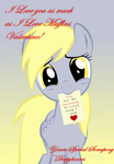 Derpy Hooves Valentine Card by InkKirby