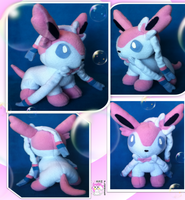 Chibi Standing Sylveon/Ninfia by Ami-Plushies