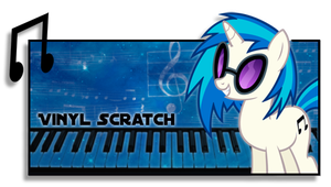 Firma de Vinyl Scratch by Darkselia