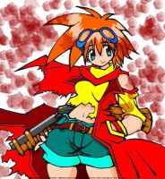 Misty with a gun o.o by SgtSugar