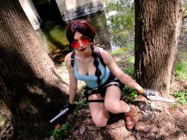 Tomb Raider exploring forest ~ Lara Croft Cosplay by SerahChan