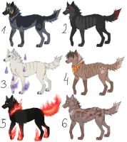 Dogs/Wolves Adopts OPEN by FourPawsADOPTS