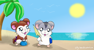 At the Beach by Kitty-Ham