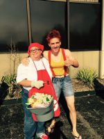 Misty and a pokemon Breader (Meggacon 2015) by sonicbobomb15