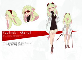 Reference Kill la Kill Oc: Yubinuki Akarui 1 by Shiroi-hi