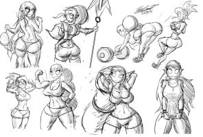 Zaura Sketches by Twisted4000
