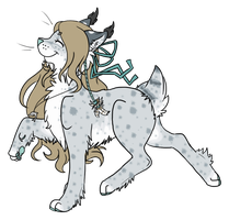 River the Snow Lynx by WhatTheFoxBecca