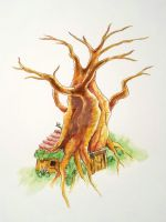 Pooh's House by Emberblue