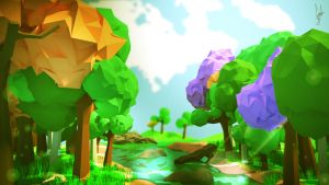 Enchanted Forest [Low Poly] by GabsLock